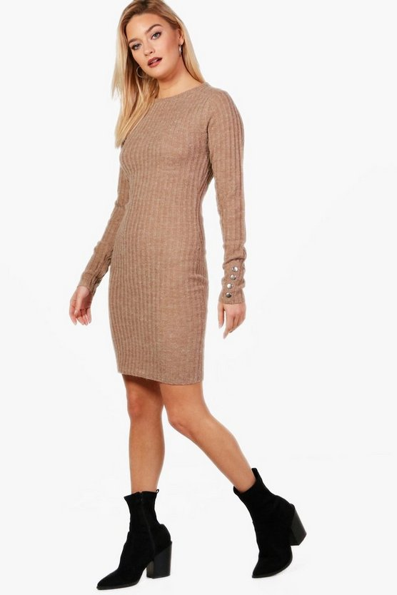 Leah Knitted Rib Midi Dress