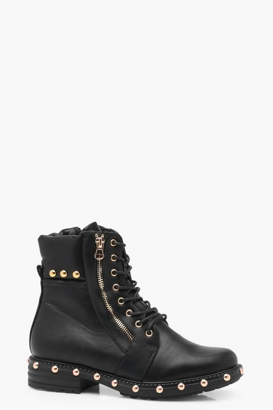 Layla Studded Rand Hiker Boot