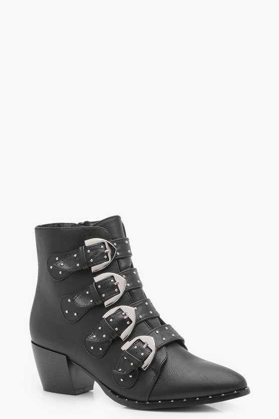 Imogen Pin Stud & Buckle Pistol Boot