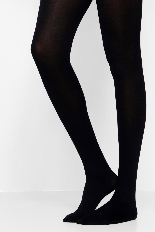boohoo Womens Soft Touch Luxury 60 Denier Tights - Black - M/L, Black