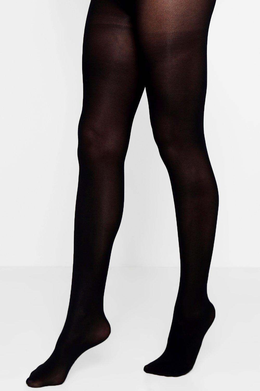 boohoo Womens Soft Touch Luxury 40 Denier Tights - Black - M/L, Black