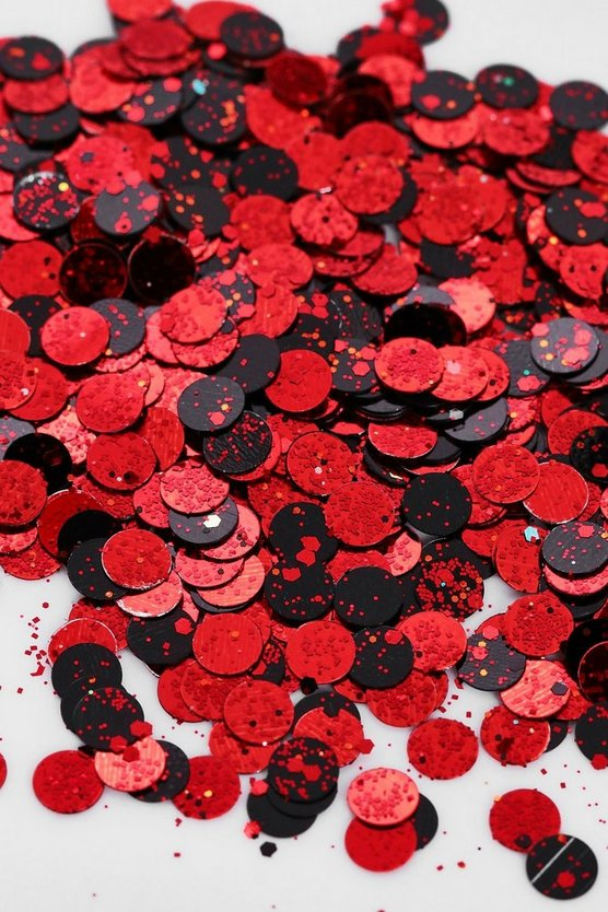 Halloween Glitter - Red & Black