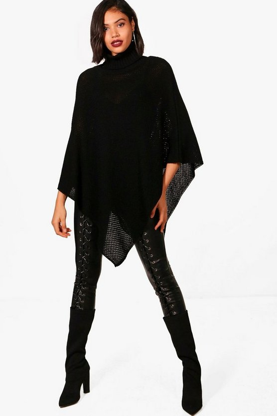 Emilia Oversized Roll Neck Poncho