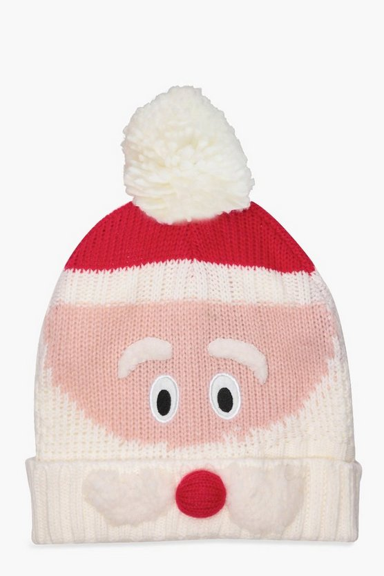 Christmas Holly Novelty Santa Beanie