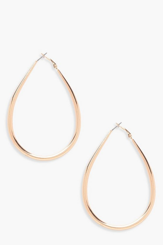Camilla Tear Drop Hoop Earrings