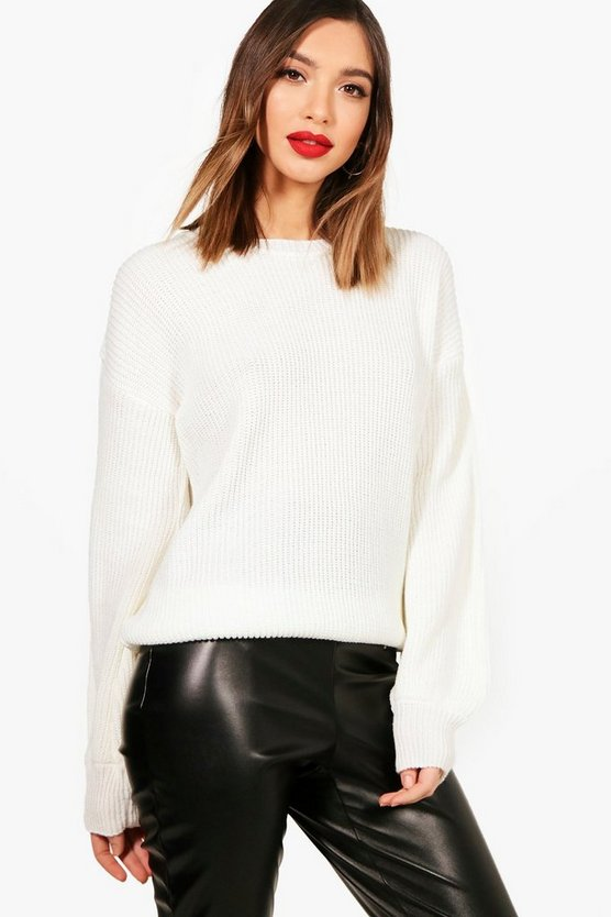 Susie Balloon Sleeve Oversized Jumper
