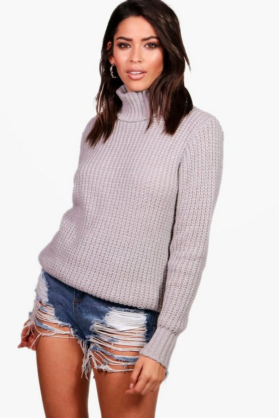 Laura Soft Knit Oversized Roll Neck Jumper