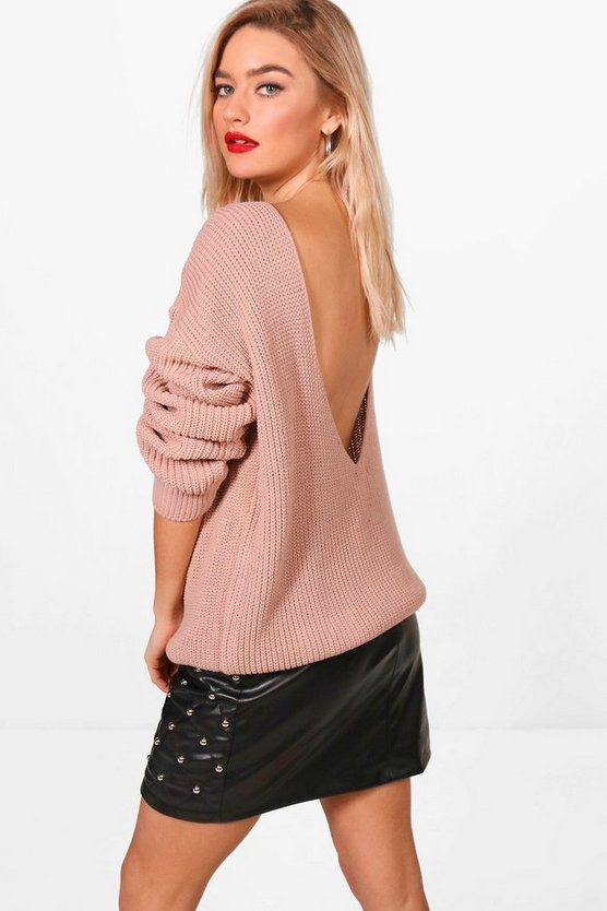 Millie V-Back Oversized Jumper