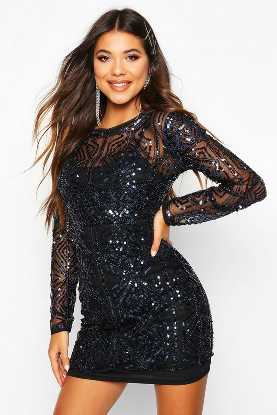 Boutique Kya Embellished Bodycon Dress