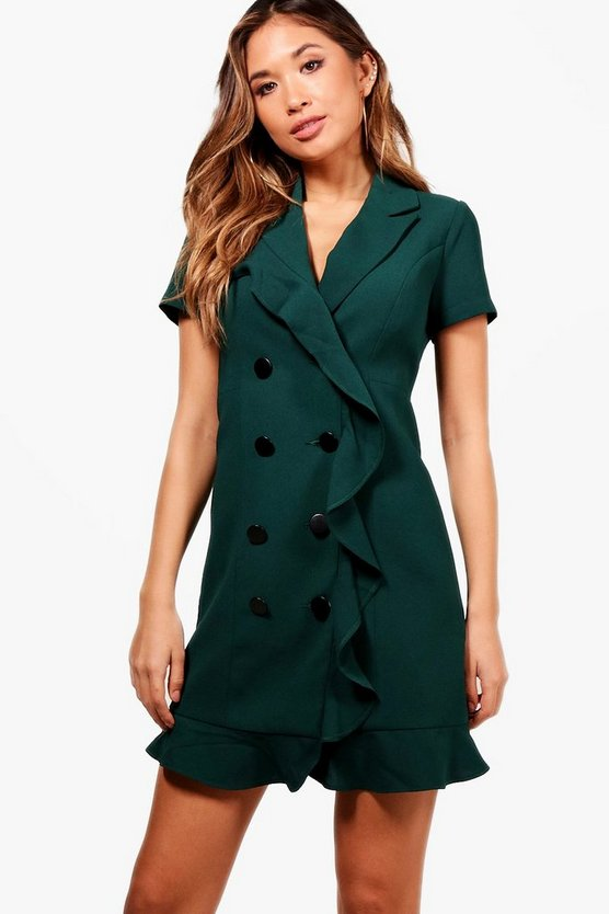 Beatrix Frill detail Blazer Dress