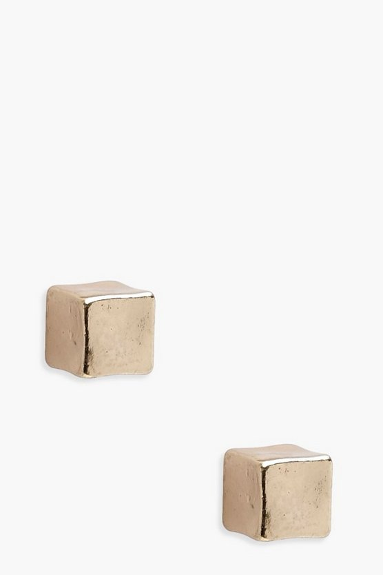 Maria Cube Stud Earrings