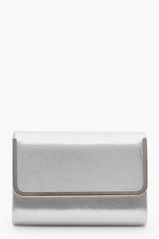 Kerry Metal Trim Glitter Fold Over Clutch