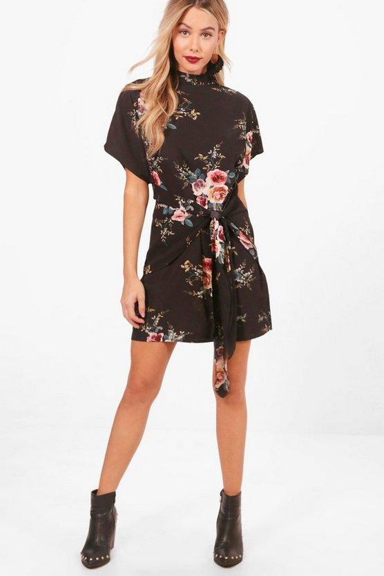 Floral Tie Detail Dress