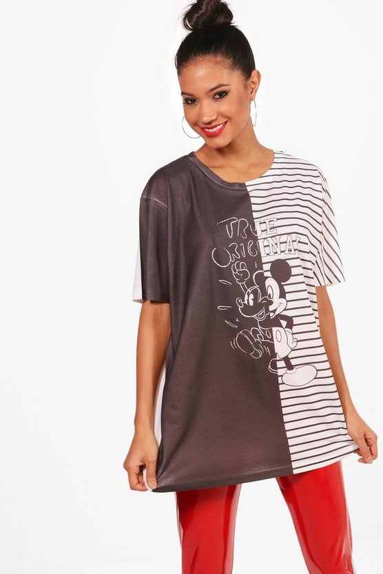 Disney Mickey Stripe Splice Top