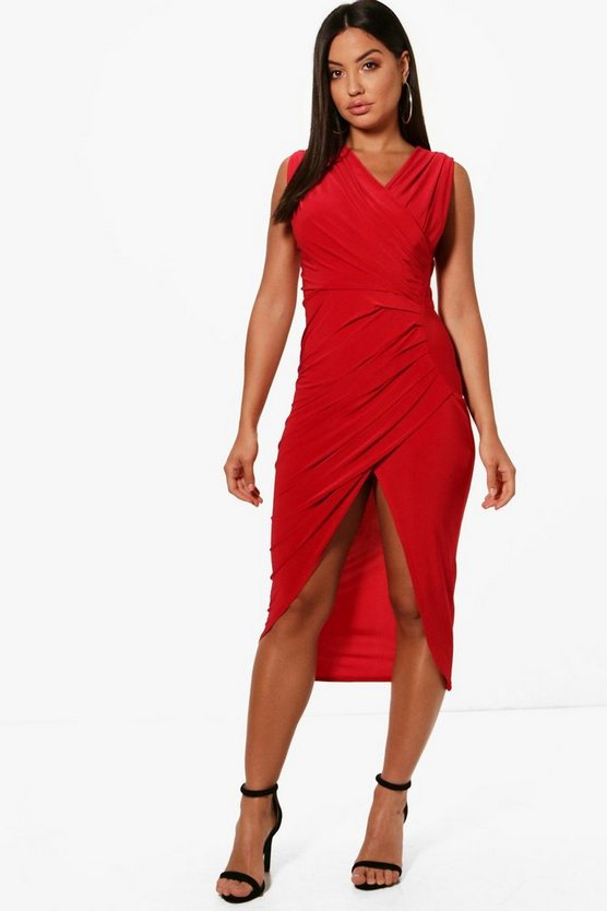 Maxine Wrap Detail Sleeveless Midaxi Dress