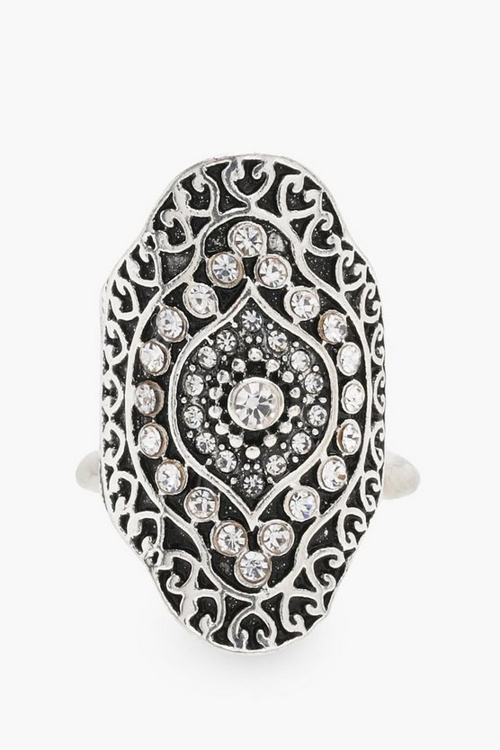 Isabella Diamante Detail Statement Ring
