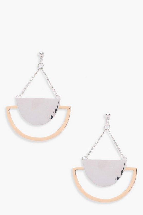 Lily Half Moon Geo Earrings