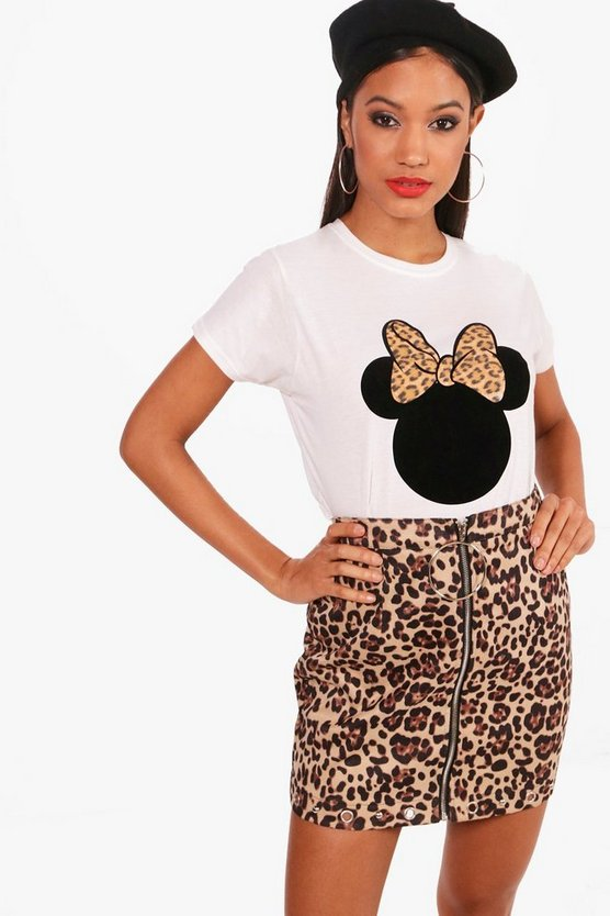 Disney Minnie Leopard Ears T-Shirt