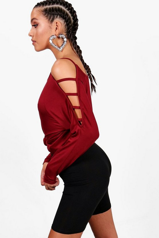 Strappy Sleeve Loose Fit Top