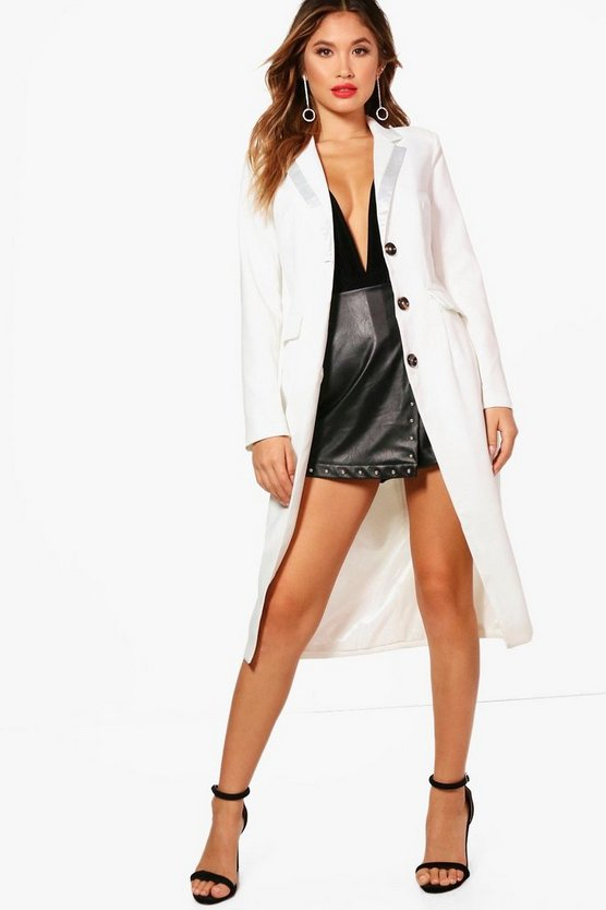Lena Thigh Split Tuxedo Dress