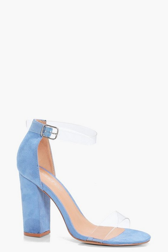 Helena Wide Fit Perspex Band Block Heel
