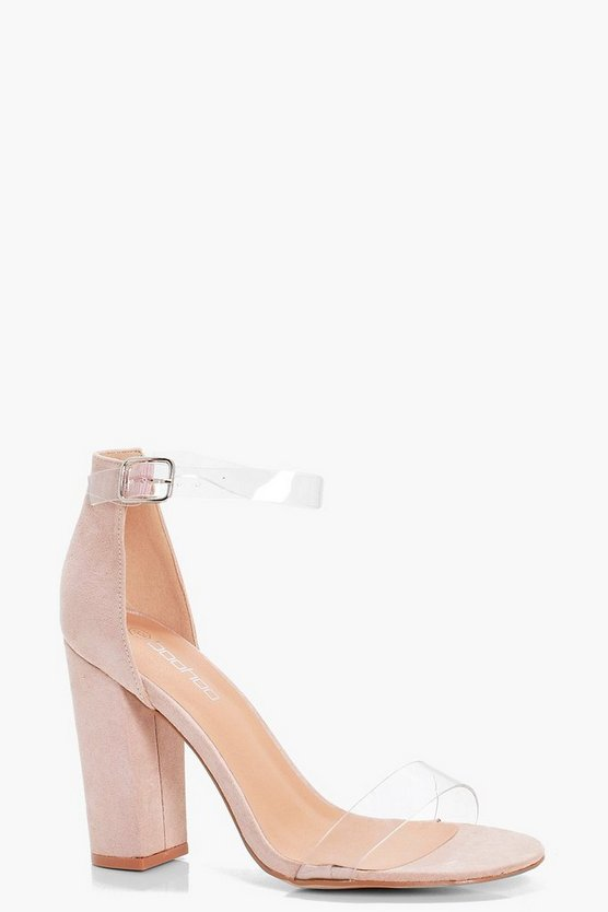 Helena Wide Fit Clear Band Block Heels
