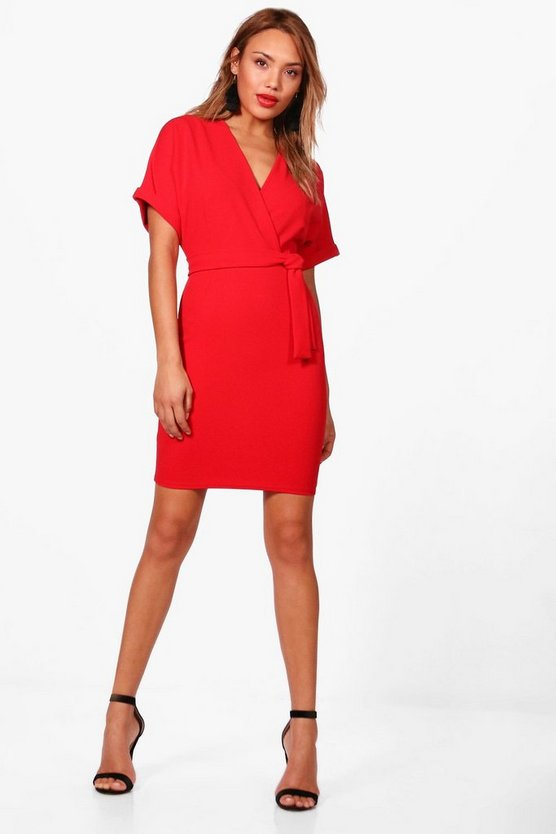 Kerry Wrap Over Belted Dress