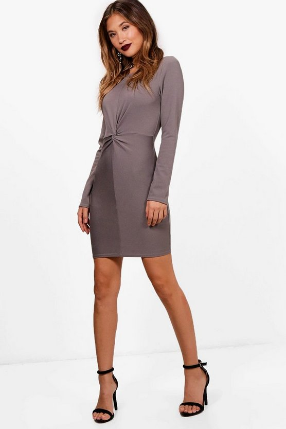 Ella Knot Front Tailored Dress