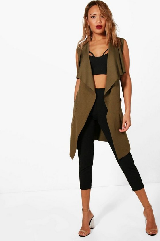 Erin Sleeveless Pocket Duster