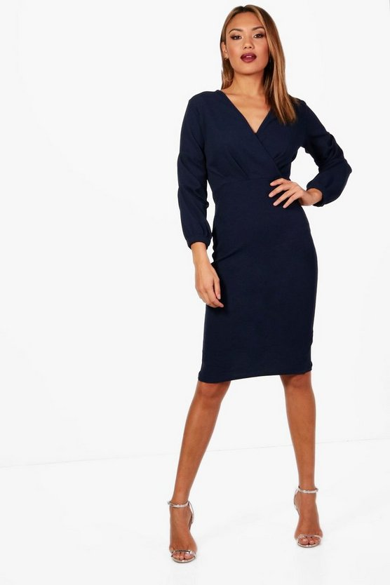 Lily Volume Sleeve Midi Dress