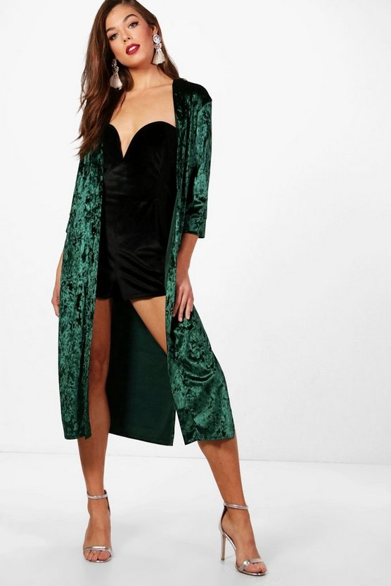 Kelly Crushed Velvet Duster