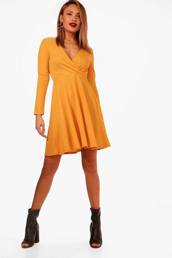 Molly Wrap Over Skater Dress