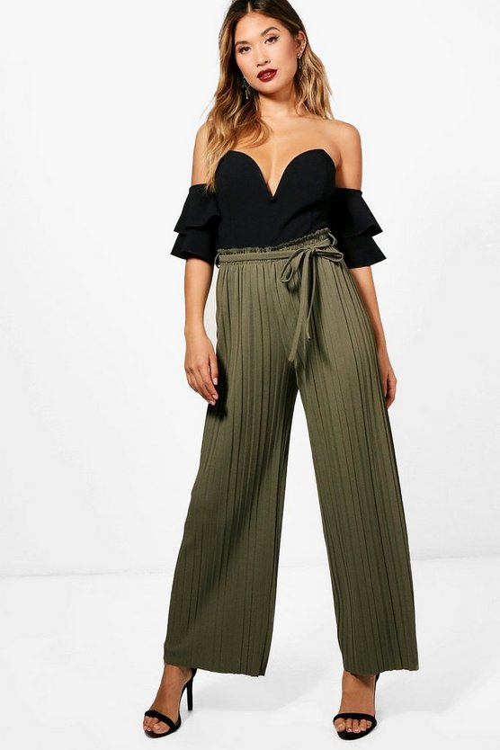 Nina Pleated Wide Leg Trouser
