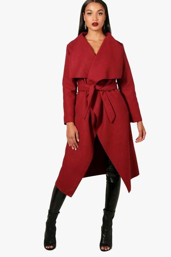 Francesca Belted Waterfall Coat