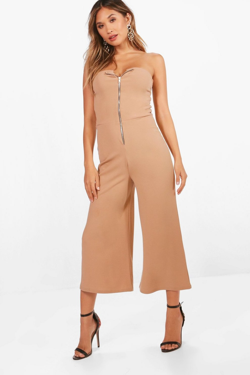 Outlet Order Boohoo Bandeau Culotte Jumpsuit Free Shipping 100% Guaranteed Best Wholesale Sale Online For Cheap Sale Online With Paypal For Sale yD5T4HS6B