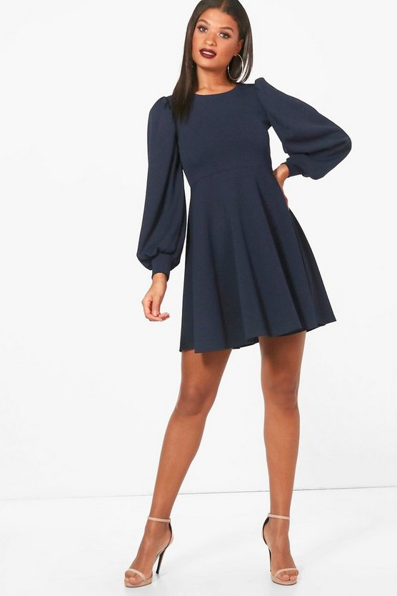 Full Sleeve Skater Dress