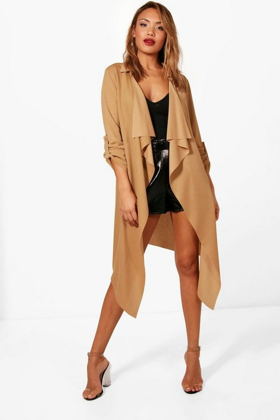 Karlie Turn Up Cuff Belted Duster