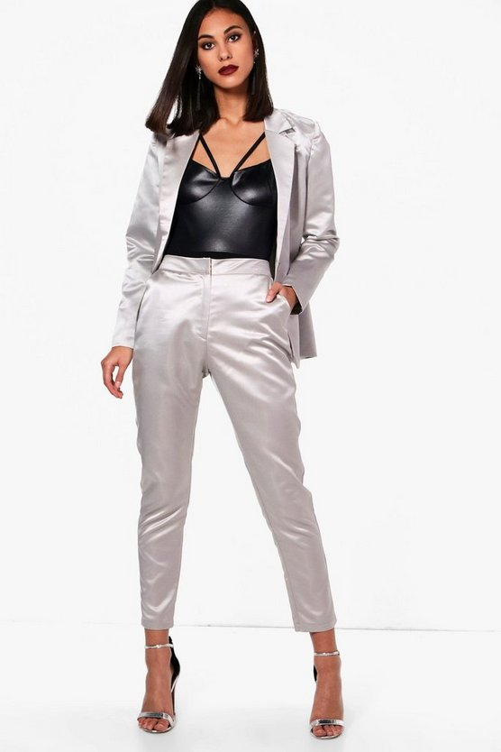 Monica Metallic Suit Tapered Trouser