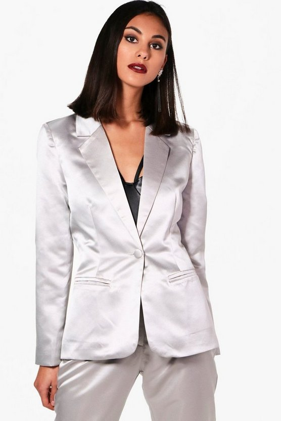 Monica Metallic Suit Blazer