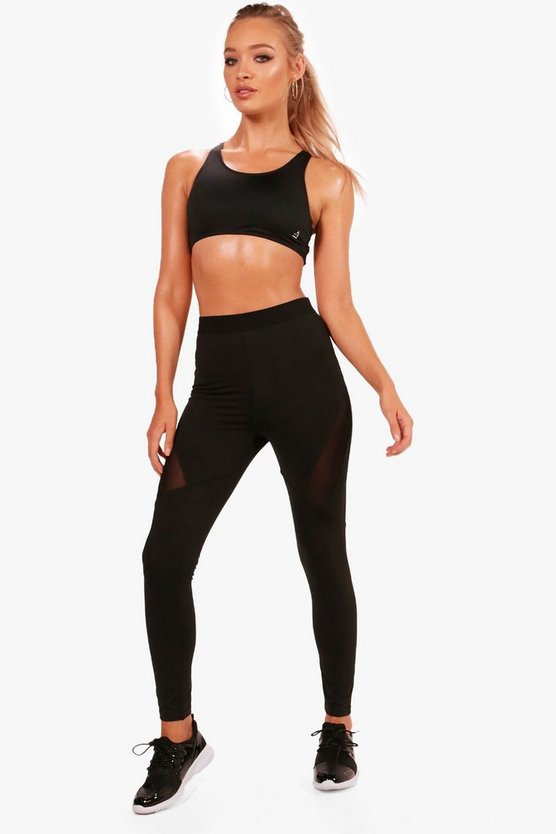 Layla Fit Mesh Panel Running Leggings