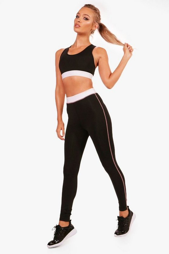 Fit Stitch Contrast Running Leggings