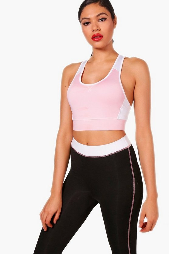 Ellie Fit Colour Block Racer Back Sports Bra