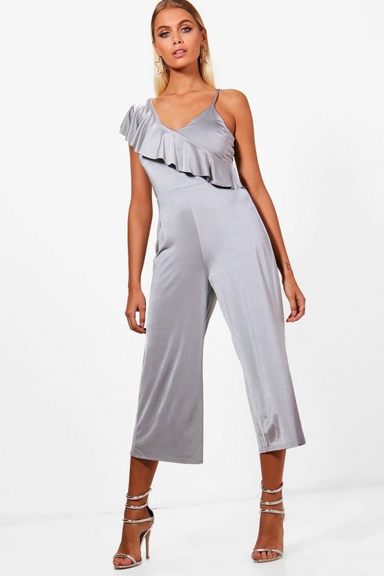 Shea One Shoulder Ruffle Jumpsuit