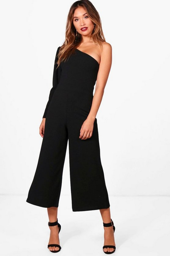 Exaggerated Sleeve Culotte Jumpsuit