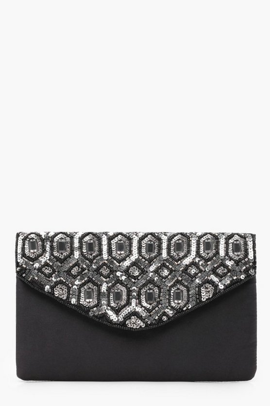 Erin Gatsby Diamante Gem Envelope Clutch
