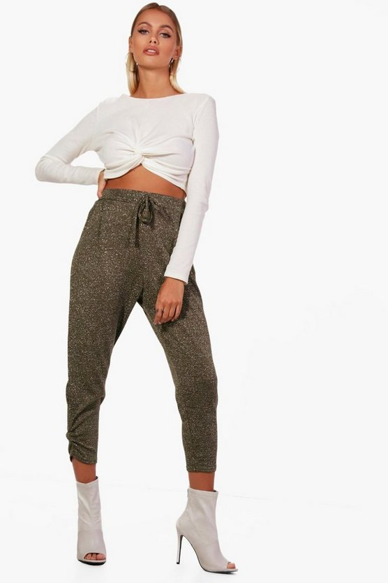 Anya Metallic Knitted Basic Jogger