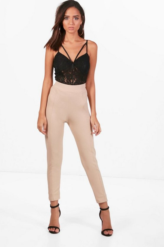 Seam Front Crepe High Waist Legging