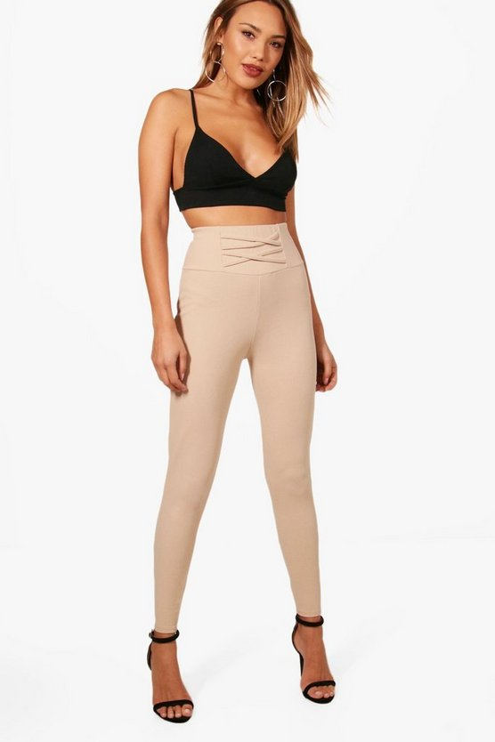 Annie Corset Detail Crepe Leggings