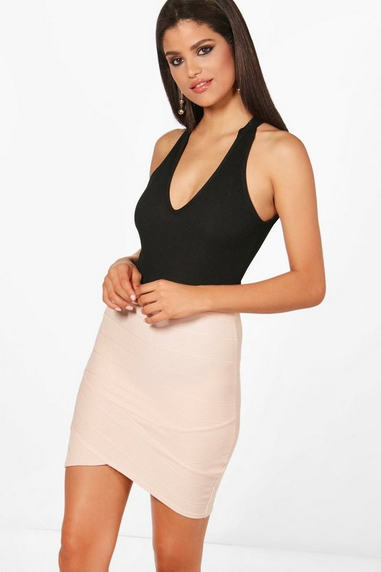 Lily Contrast Bandage Mini Skirt