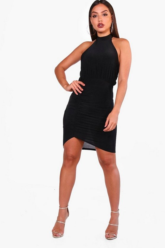 Sian Slinky High Neck Bodycon Dress